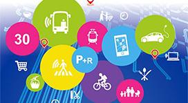 Un ensemble de pictogramme sur la mobilité et les transports